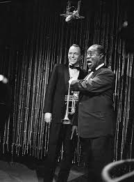 the wonderful world of louis armstrong frank sinatra and louis at the end of the show armstrong led sinatra crosby and rosemary clooney in a too short version of on the sunny side of the street