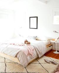 ikea bedroom rugs bed was given a more feminine look thanks to soft blush and bedroom