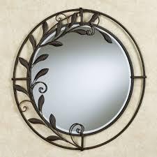 round decorative wall mirror lovely galeazzo antique bronze metal