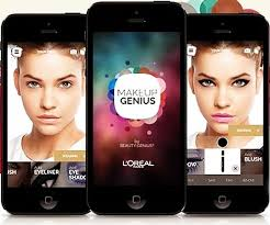 the makeup genius app by l oreal gives a live view of your face wearing digital makeup