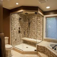 Corner walk in shower idea master bath home decorating Shower options for  small bathrooms