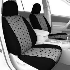 black trim pet print seat covers light grey 08aa
