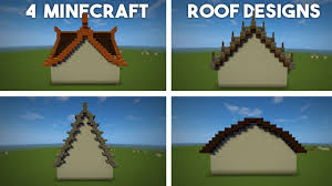 Cool Minecraft Roof Designs Minecraft Roof Tutorial 4 Designs Advanced Roofs Made Easy