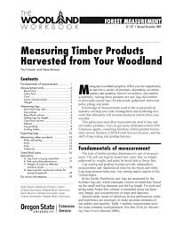 log measurements measuring timber products harvested from your woodland osu