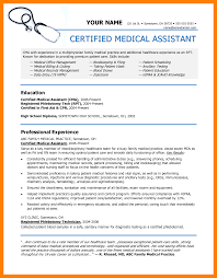 Certified Medical Assistant Resume Sample clinical medical assistant resumes Tierbrianhenryco 48