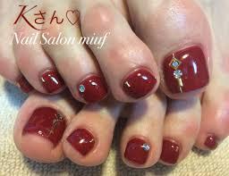 赤フットネイル 札幌ネイルサロンmiuf