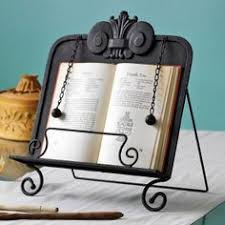 metal cookbook stand holder display easel kitchen countertop scrollwork weights ferforje display easel countertop and kitchen racks