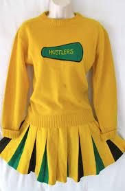Vintage 70 s Cheerleader Uniform Letter Varsity Jacket 3 Piece Set.