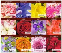 Birth Flower Chart Birth Month Flowers And Their Meanings Birth Month Flowers