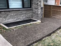 exposed aggregate concrete stamped