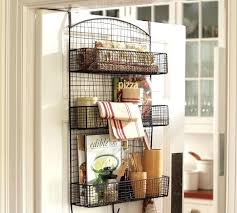 pantry door organizers behind the door wire storage eclectic pantry and cabinet organizers by pottery barn