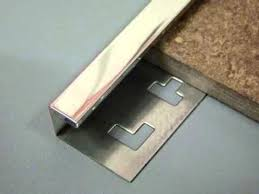 closed by inserting stainless steel tile trim corner construction regarding metal countertop edge ideas 9
