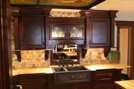 Stone Backsplashes For Kitchens Gallery Kitchen Stone Backsplash Ideas With Dark Cabinets Fence