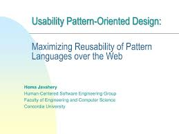 Human Oriented Design Ppt Usability Pattern Oriented Design Maximizing