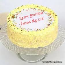 Fatima Mallick Name Birthday Cake