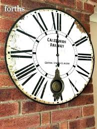 extra large wall clocks seemly vintage