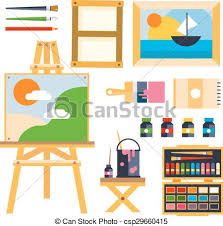 creative furniture icons set flat design. Studio Drawing Tools To The Creative Process Flat Icons Set Isolated Vector Furniture Design E