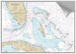 Bluewater Books Charts Decorative Nautical Cht Fl