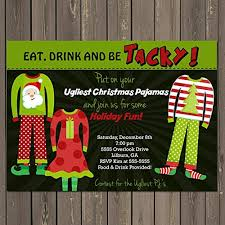 Christmas Holiday Invitations Amazon Com Ugly Pajama Holiday Christmas Party Invitation