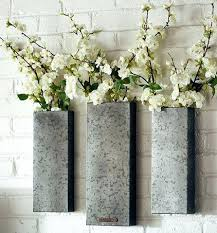 metal wall vase cozy ideas metal wall vase home decorating galvanized table metal flower vase wall