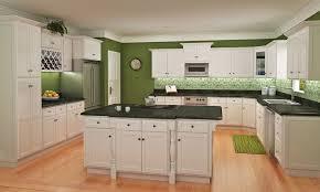 shaker kitchen cabinets white green