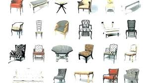 kinds of furniture styles. Dining Room Chairs Styles Types Of Furniture Style Tremendous Names . Kinds