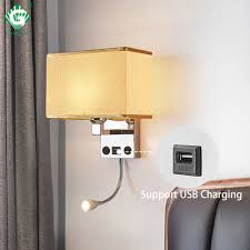 Headboard Light Switch Us 32 54 31 Off Led Wall Lights Sconce In The Bedroom Interior Wall Sconces With Switch E27 Bulb Usb Modern Black Indoor Bedside Lamp Headboard In
