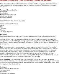 Cover Letter Template For A Job Fresh Teacher Cover Letter Format