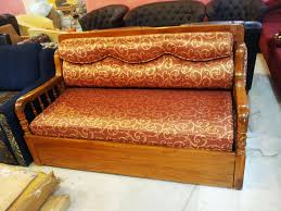 teakwood sofa bed straight line