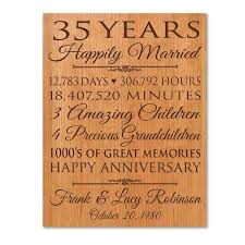 sixth wedding anniversary gifts 35th wedding anniversary gift ideas for pas pinteres