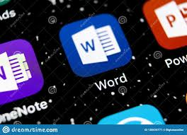 Micorsoft Office Word Microsoft Word Application Icon On Apple Iphone X Screen