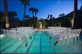 Pool Decor Ideas Translucent Cover Wedding Ceremony
