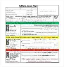 asthma action plan template free sle exle format regarding work engineering excel r