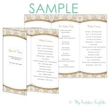 Sample Wedding Programs Templates Free Rustic Program Template Burlap And Lace Trifold Free