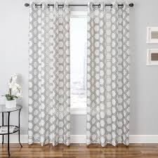 White Patterned Curtains Awesome Bust Of Adorn Your Interior With White Patterned Curtains Home