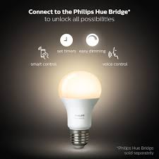 How Do Fluorescent Light Bulbs Work Philips Hue White A19 2pack 60w Equivalent Dimmable Led