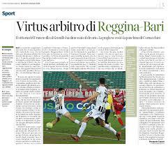 Solobari.it • 24/01/20 - CdM - Virtus arbitro di Reggina-Bari