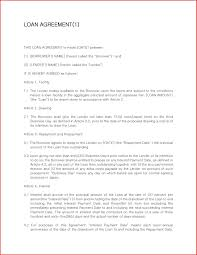 Agreement Letter Sample For Loan Personal Format Of Between Two