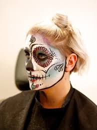 how to do sugar skull style makeup