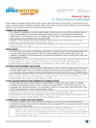 Apa In Text Citation Citation Graphic Design