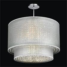 charming crystal drum shade chandelier 0 duet glow sheer 601cd24sp w 7c lighting captivating crystal drum shade