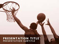 Basketball Powerpoint Template Royalty Free Basketball Powerpoint Template In Orange