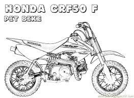Honda Bike Coloring Page Art Lessons Honda Bikes Pit Bike Dirt