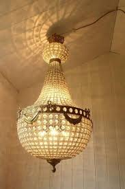huge vintage antique french empire style bag chandelier