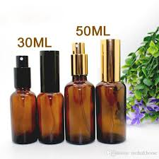 2018 30ml and 50ml pump sprayer amber glass bottles with gold or black lids high end spray atomizer for perfume essence from mrdarkhorse 307 75 dhgate