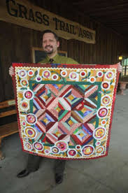 Katy resident stands out in quilt guild - Houston Chronicle & Katy resident Tom Russell displays the quilt he made during a meeting of  the West Houston Adamdwight.com