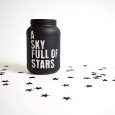 a sky full of stars diy painted jar northstory ca
