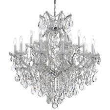 crystorama maria theresa 19 light clear italian crystal chrome chandelier