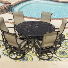 round patio table for 6 60 inch sets dining tablecloth outdoor