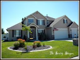 House With Black Trim Tan House White Trim Black Shutters Google Search For The Home